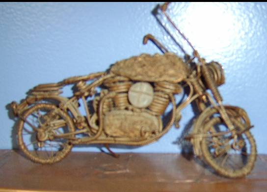 The first copper sculpted motorcycle.