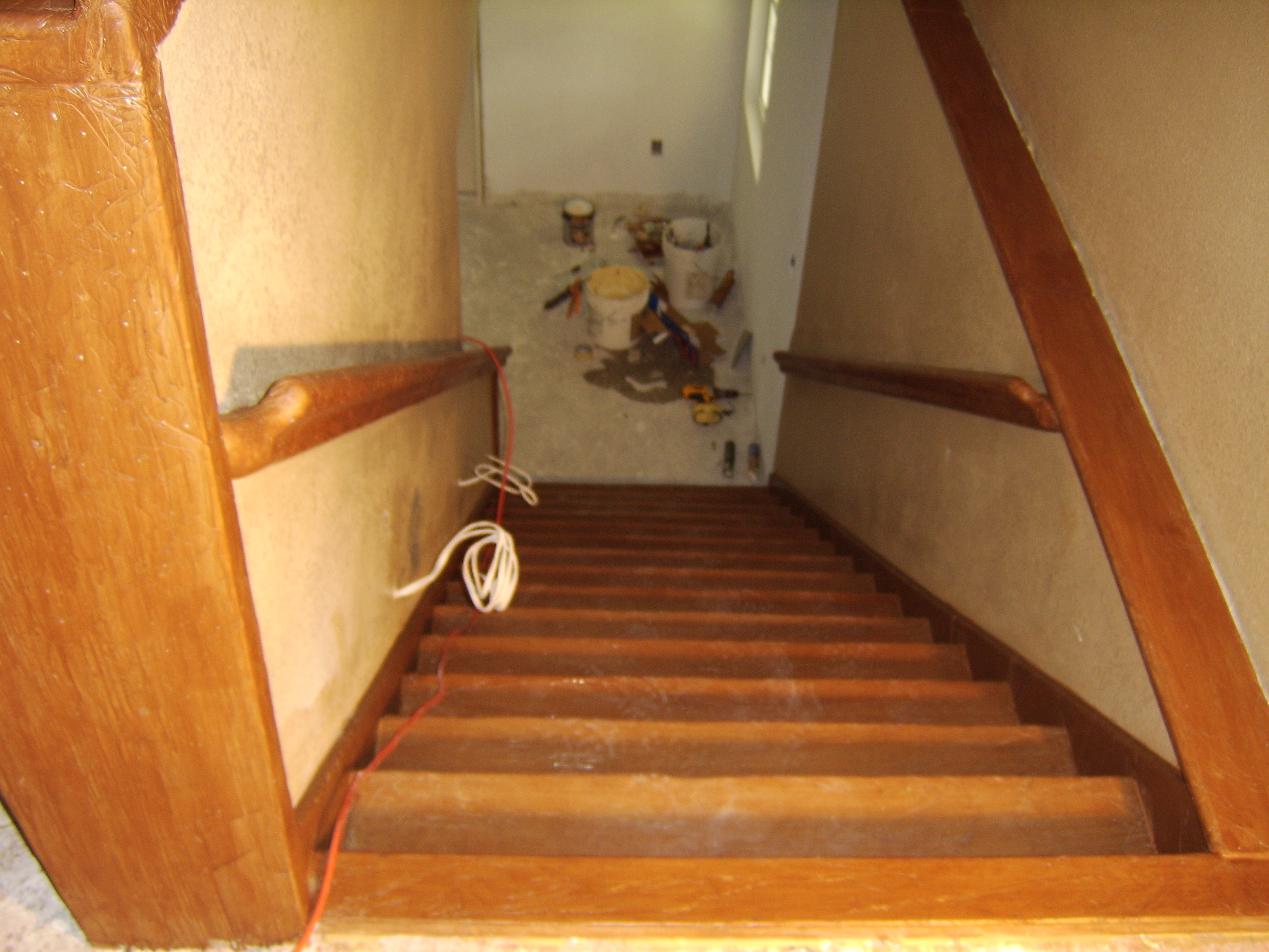 custom concrete staircase